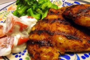 Курица гриль с имбирем